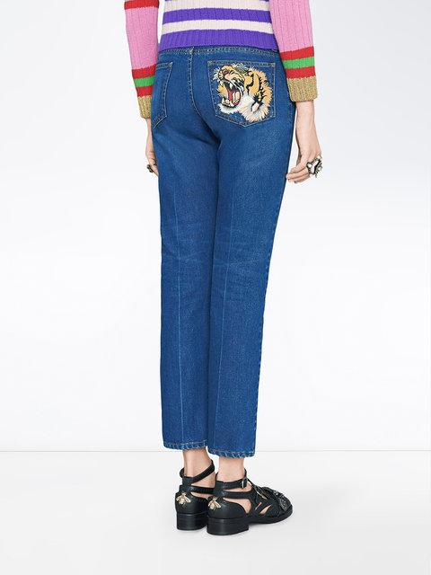 GUCCI EMBROIDERED JEANS,449577XR50311977620