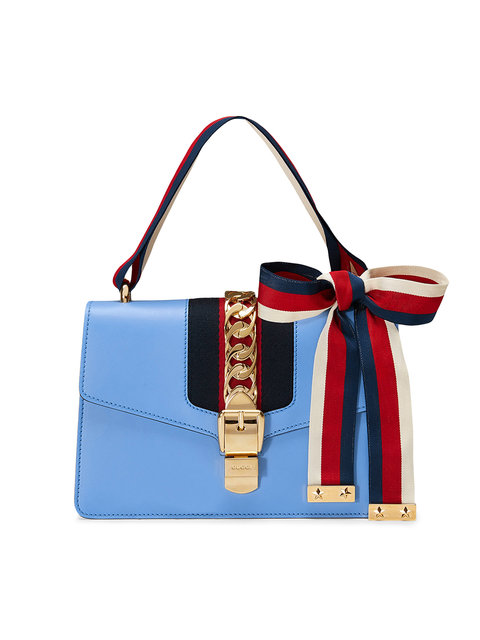b00fe74055a7 Gucci 'Sylvie' Light Blue Shoulder Bag In 4367 | ModeSens