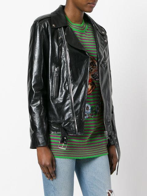 dc4f89817 Gucci Ghost Biker Jacket - Black | ModeSens