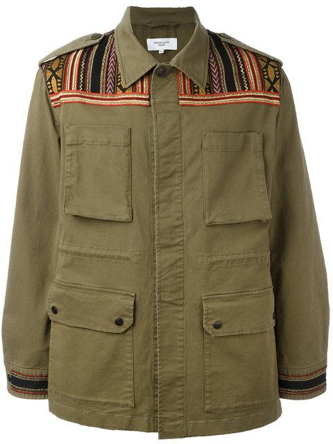 5b9a31ae47fb30 Fashion Clinic Timeless Embroidered Panel Field Jacket - Green. Farfetch
