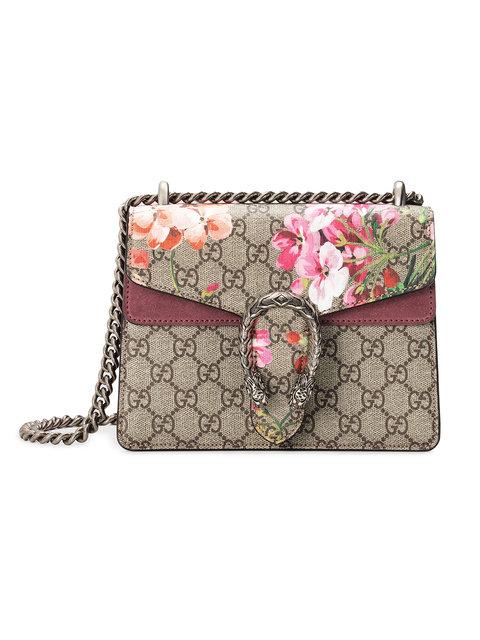 456795404b3 Gucci Mini Dionysus Gg Blooms Canvas   Suede Shoulder Bag - Beige In  Neutrals