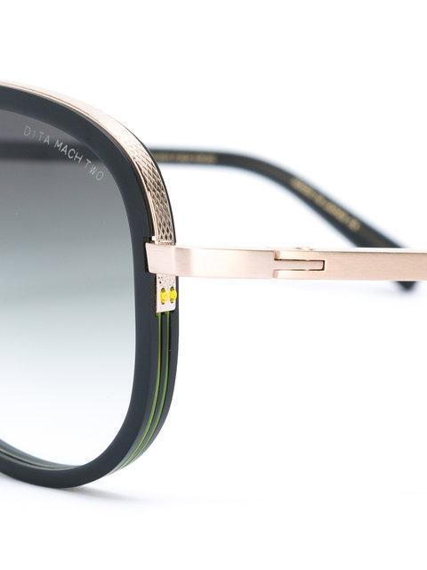94424f9cf02e Dita Eyewear Gold Trim Sunglasses - Black