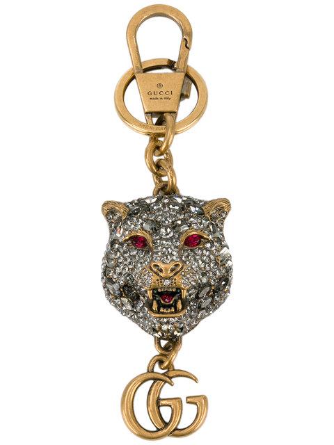 3ab99cd18f1 Gucci Crystal-Embellished Tiger S Head Keychain