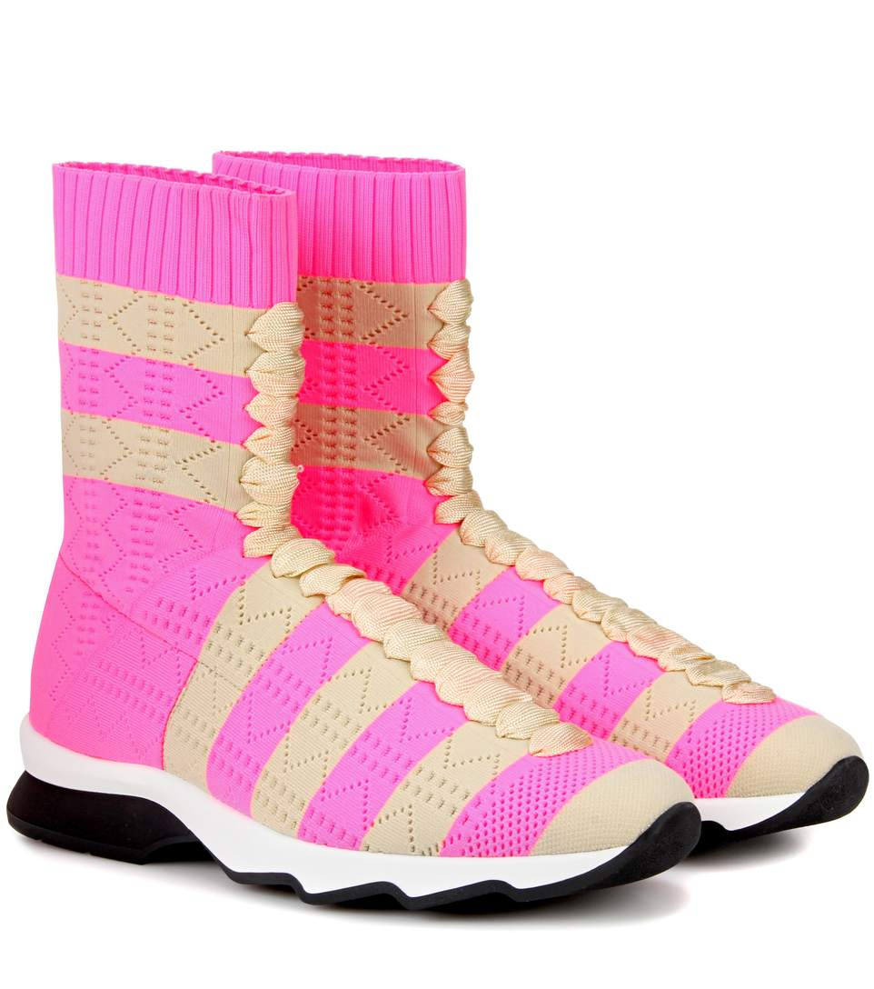 59056b55e7 High-Top Sneakers in Pink