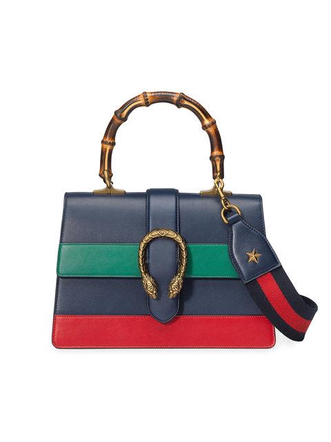 971c417927f Gucci Dionysus Bamboo Medium Leather Shoulder Bag In Black