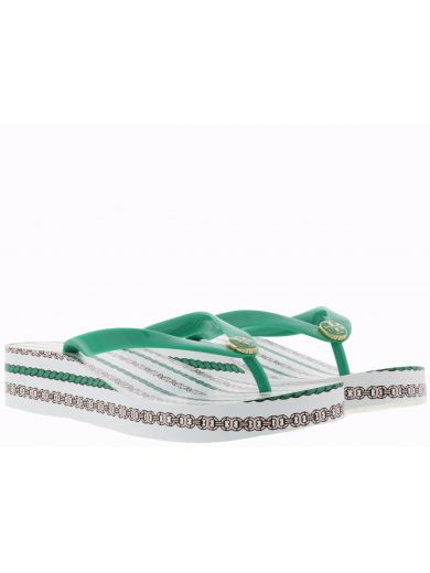 14f294a0d116 Tory Burch Printed Wedge Flip Flop