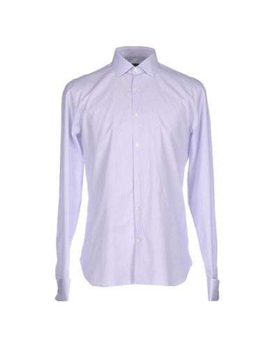 John Varvatos Striped Shirt In Lilac