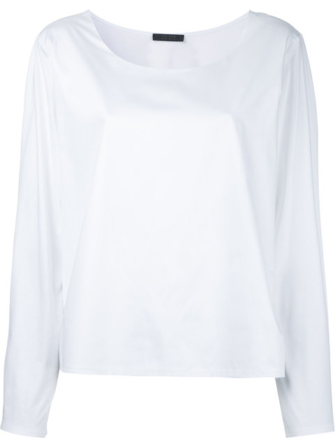 The Row Angelina Scoop-Neck Cotton Top In White