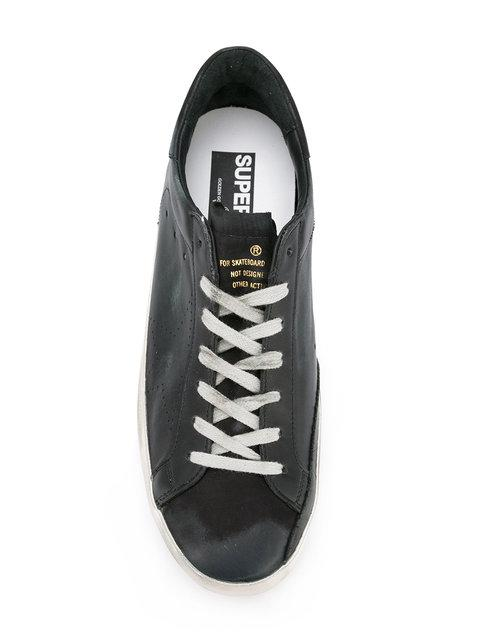 GOLDEN GOOSE DISTRESSED SUPER STAR SNEAKERS,GCOMS590A611989591