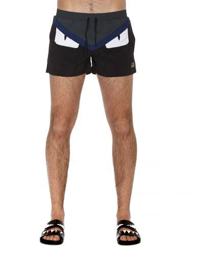 e17e14a03b Fendi Monster Eyes Nylon Swim Shorts In Multicolor | ModeSens