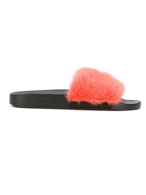 5d09bf78875 Givenchy Pink Mink Beach Slide Sandals In Black