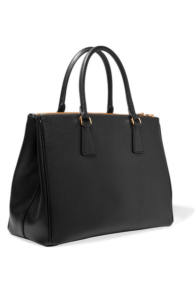 8da0fe73def7 Prada Galleria Saffiano Small Leather Shoulder Bag In Black