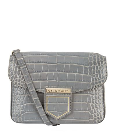 Givenchy Nobile Small Crocodile-Embossed Leather Cross-Body Bag In Pearl  Grey e72596732cac2
