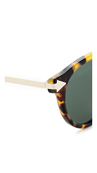 44c7fbb616b Karen Walker Alternative Fit Helter Skelter Sunglasses In Crazy Tort G15  Mono