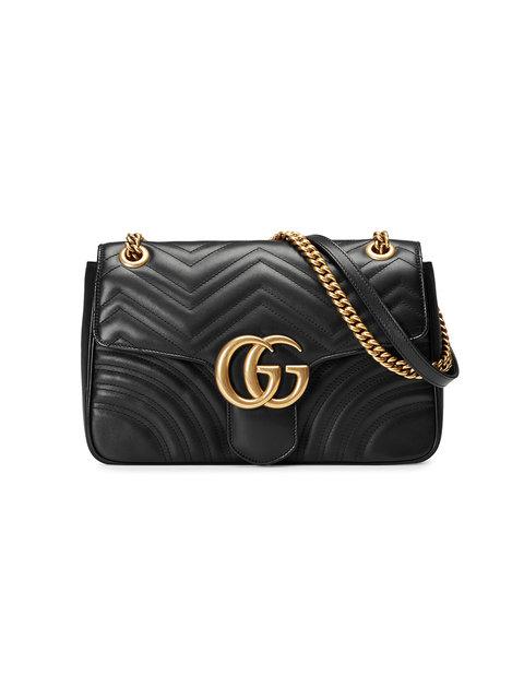ec8794af1210 Gucci Medium Gg Marmont 2.0 Matelasse Leather Shoulder Bag - Black ...