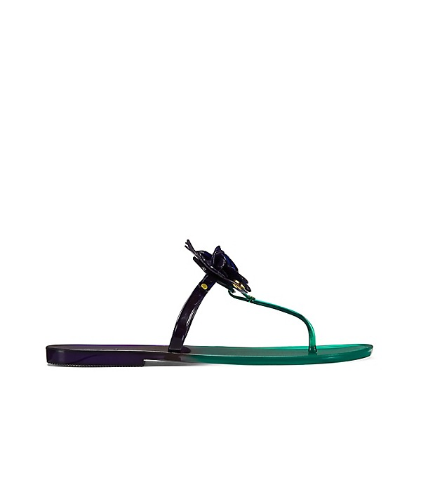 b4c2f8fbc88e Tory Burch Blossom Two-Tone Jelly Thong Sandal In Emerald