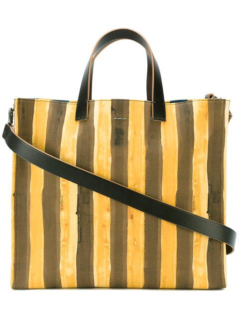 Fendi Striped Picasso Face Leather Tote In Multi   ModeSens 5fe34cbd79