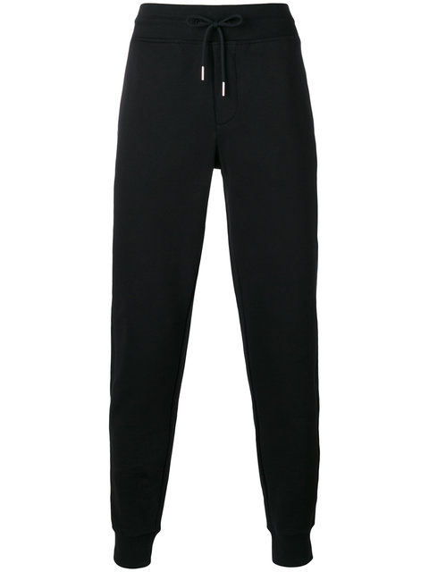 Moncler Zip-Pockets Drawstring Sweatpants, Black