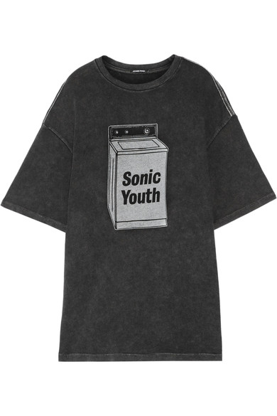R13 Sonic Youth Oversized Cotton-blend T-shirt In Black