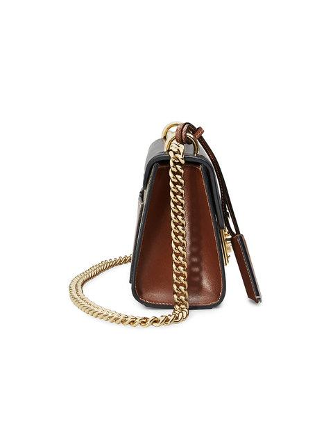 Gucci Padlock Gg Supreme Leather And Coated Canvas Shoulder Bag In Brown