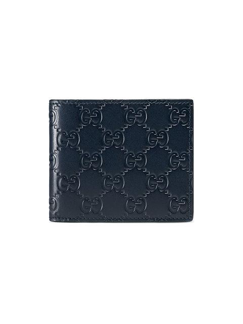 f42b4637b2c Gucci Dorian Gg Embossed Bifold Wallet In Blue