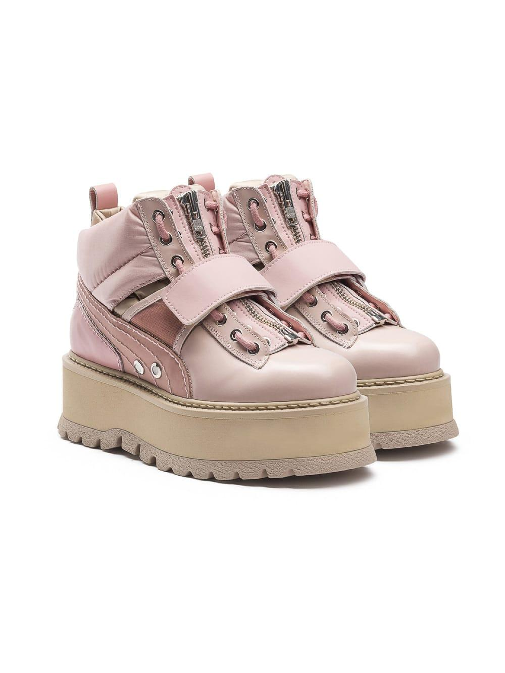 99d02f871d93 Puma Pink  Fenty X By Rihanna  Sneaker Boots In Silver Pink