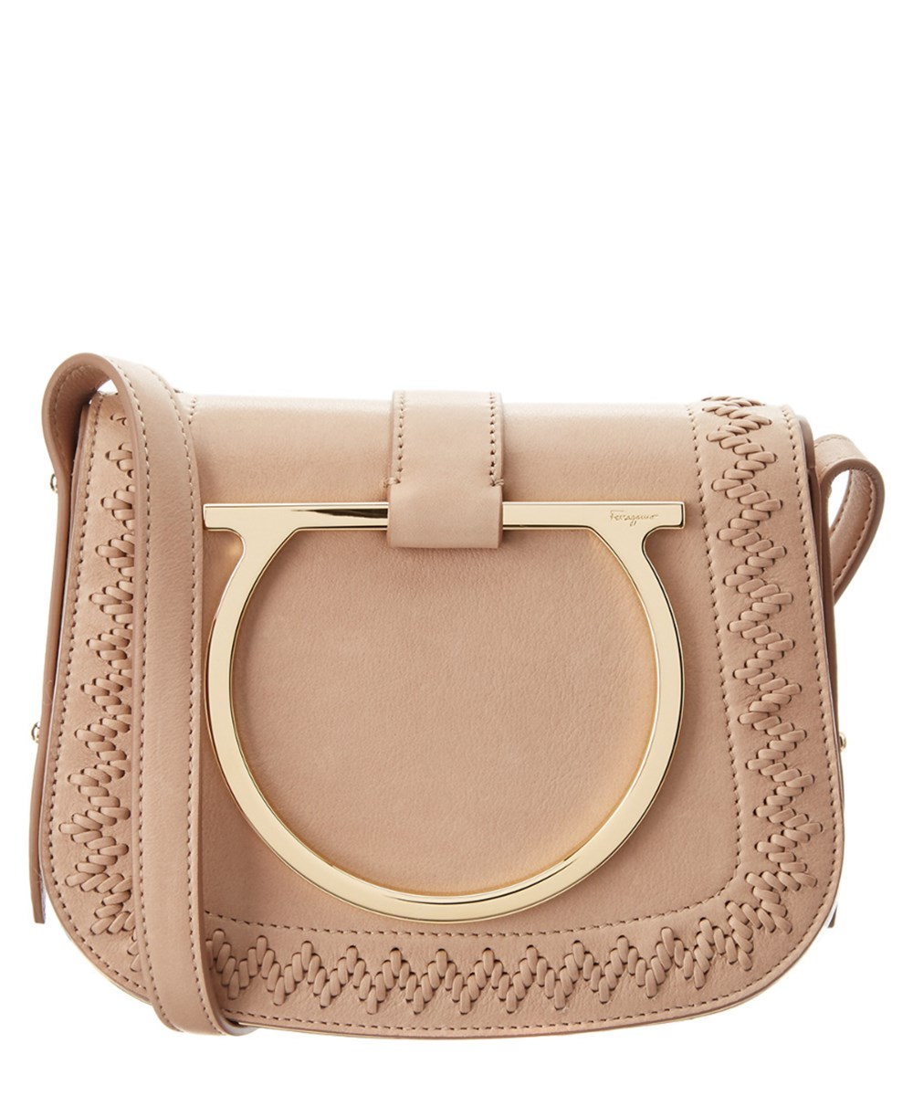 c38420d17ca9 Salvatore Ferragamo Sabine Small Gancio Ornamented Leather Crossbody  In  Pink