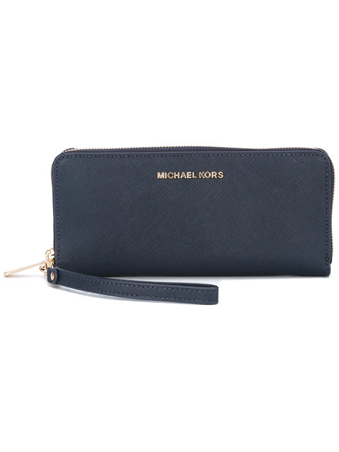 39b8f27cb7a0 Michael Michael Kors Jet Set Travel Continental Wristlet Wallet, Admiral In  Blue