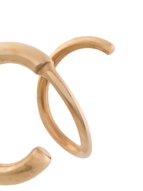 165938638c432 Maria Black Dogma Twirl Earring - Metallic in Yellow