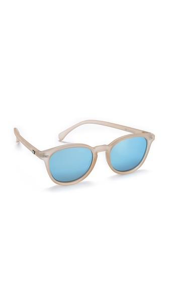 3dd660f5ab Le Specs Bandwagon Sunglasses In Raw Sugar Ice Blue Revo Mirror ...