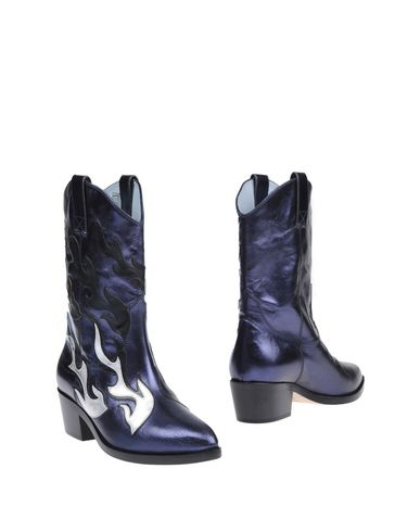 Chiara Ferragni Women's Leather Heel Boots In Blue