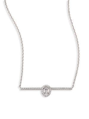 83edd081714621 Messika Glam'Azone Diamond PavÉ & 18K White Gold Necklace | ModeSens