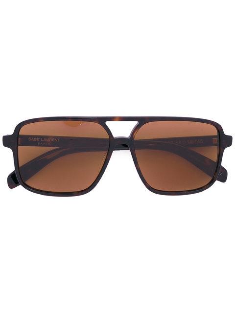 d5e6ced896 Saint Laurent  Sl 176  Double Bridge Square Acetate Sunglasses ...