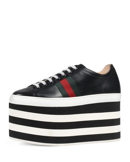 298843b237f39 Gucci Peggy Leather Platform Sneaker