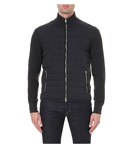 07240f94c7aa3 Tom Ford Ribbed Merino Wool And Quilted Shell Down Jacket In Charcoal