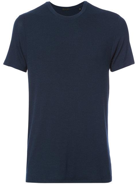 Atm Anthony Thomas Melillo Short-sleeve Crewneck Shirt, Midnight In Blue