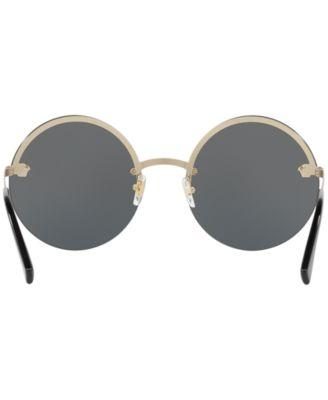 337177718e65 Versace Medusa Logo 59Mm Large Round Sunglasses - Pale Gold Solid In Gold  Grey