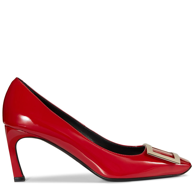 Roger Vivier Belle Vivier Trompette Pumps In Patent Leather In Rulieo Scuro