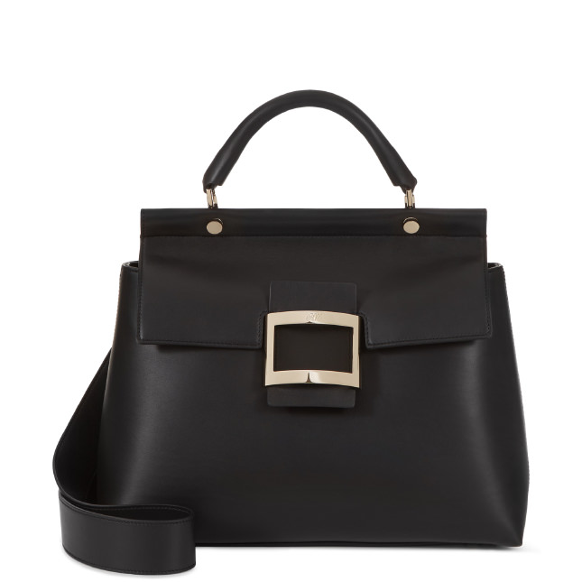 ae610a7455 Roger Vivier Small Viv  Cabas In Leather In Black