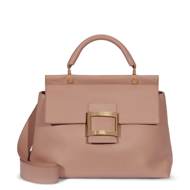 aab9763b6d Roger Vivier Small Viv  Cabas In Leather In Pink