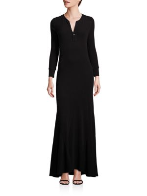 91564ed4b57 Polo Ralph Lauren Henley Maxi Dress In Polo Black