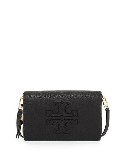 87cb3afcab15 Tory Burch Harper Flat Wallet Crossbody Bag New Ivory In Black