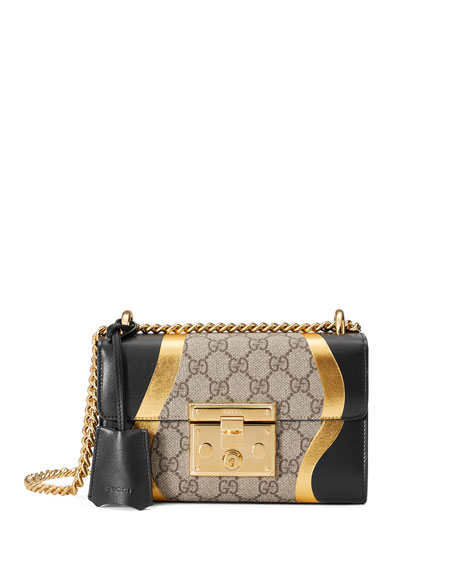 af5817f78a1d Gucci Padlock Small Gg Supreme & Leather Shoulder Bag, Black/Multi ...