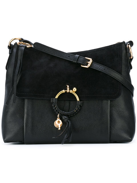 73fcf57feef9 See By ChloÉ Ring Large Suede   Leather Shoulder Bag