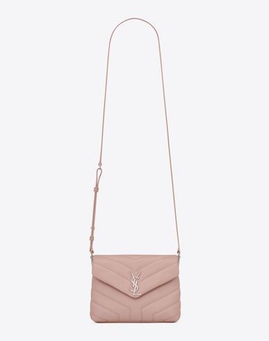 cada918a0 Saint Laurent Loulou Monogram Ysl Mini V-Flap Calf Leather Crossbody Bag -  Nickel Oxide