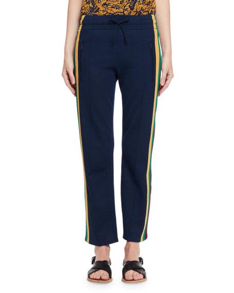 Etoile recortados punto a azul de Marant rayas recta de en Isabel Dobbs pantalones elástico pierna gBxvrgq8