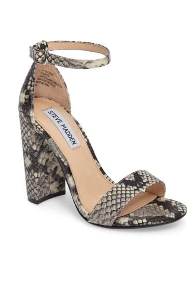 f6461242d05 Steve Madden Women S Carrson Block-Heel Sandals In Black Multi Snakeskin