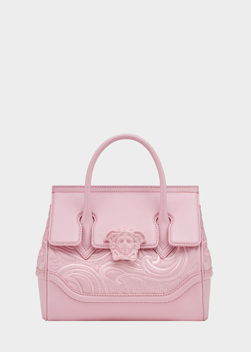 9fd584474263 Versace Embroidered Palazzo Empire Bag In Pink