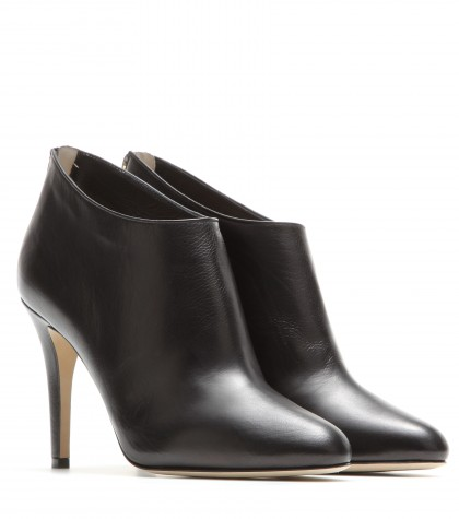 cb43346cdeaa Jimmy Choo Mendez Black Grainy Calf Leather Ankle Boots In Llack ...
