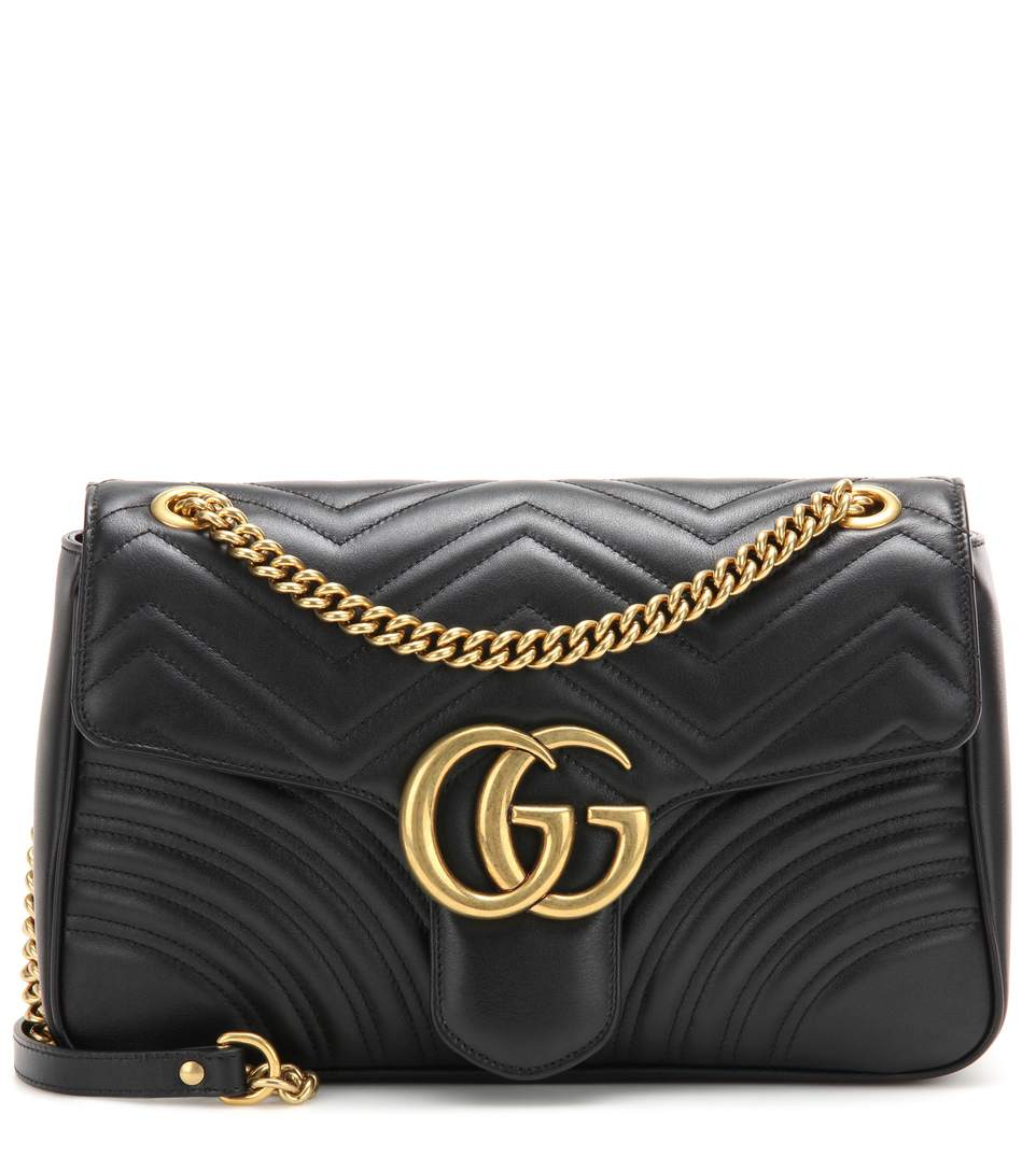 7d6274526 Gucci Medium Gg Marmont 2.0 MatelassÉ Leather Shoulder Bag In 1000 Black